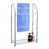 OIA Acrylic Free Standing Towel Rack with Shelf