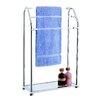 OIA Acrylic Free Standing Towel Rack with Shelf