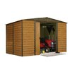 Arrow Euro Dallas 10ft. W x 8ft. D Steel Storage Shed