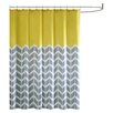 Intelligent Design Nadia Microfiber Printed Shower Curtain