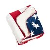 Saro Old Glory US Flag Design Sherpa Throw