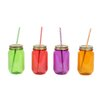 DEI Farm to Table Mason Jar with Lid and Straw (Set of 4)