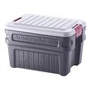 Rubbermaid 24 Gallon Action Packer Storage Container in Black