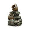 Jeco Inc. Polyresin and Fiberglass Tiered Pots Fountain II