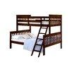 Donco Kids Donco Twin Over Full Mission Bunk Bed with Tilt Ladder
