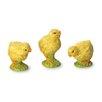 October Hill 3 Piece Decoupage Chick Figurine Set
