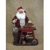 <strong>Karen Didion Originals</strong> Crakewood Vintage Clock Maker Santa