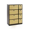 "Furinno Econ 23.8"" Storage Cabinet with Bins"