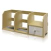 <strong>PASiR Desk Storage Shelf with Bin</strong> by Furinno