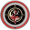 "<strong>Trademark Global</strong> 14"" Miller High Life Girl in The Moon Vintage Wall Clock"