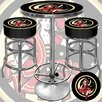 <strong>Girl in the Moon Game Room 3 Piece Pub Table Set</strong> by Trademark Global