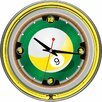 "<strong>Trademark Global</strong> Rack'em 9-Ball Neon 14"" Wall Clock"