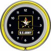 "<strong>Trademark Global</strong> U.S Army 14.5"" Double Ring Neon Wall Clock"