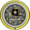 "<strong>Trademark Global</strong> U.S Army 14.5"" Digital Double Ring Neon Wall Clock"