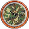 "<strong>Trademark Global</strong> 14.5"" Hunt Camo Double Ring Neon Wall Clock"
