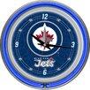 """Trademark Global NHL 14.5"""" Winnipeg Jets Neon Wall Clock"""