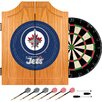 Trademark Global NHL Winnipeg Jets Dart Cabinet includes Darts and Board