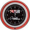 "Trademark Global 14.5"" Corvette C2 Double Ring Neon Wall Clock"