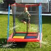 "<strong>Skywalker Trampolines</strong> 60"" Square Interactive Mini Trampoline with Enclosure"