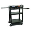 <strong>Buhl</strong> Height Adjustable AV Media Cart with Three Stationary Shelves