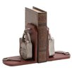 <strong>Woodland Imports</strong> Metal Lock and Key Book Ends (Set of 2)