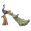 Woodland Imports Peacock Décor Figurine