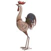 Woodland Imports Metal Rocking Rooster Statue
