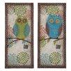 Woodland Imports 2 Piece Austere Customary Owl Wall Décor Set
