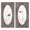 <strong>Woodland Imports</strong> 2 Piece Panel Wall Décor Set