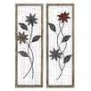 Woodland Imports 2 Piece Floral Wall Décor Set