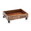 Woodland Imports The Lovely Wood Trolley Tray