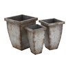 <strong>Woodland Imports</strong> The Rusty 3 Piece Square Planter Box Set