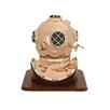 Woodland Imports Unique Metal Wood Decorative Diving Helmet