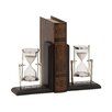 Woodland Imports Attractive Wood Metal Book Ends (Set of 2)