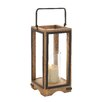 Woodland Imports Wood Metal Glass Lantern