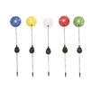 <strong>Woodland Imports</strong> The Colorful Metal Solar Garden Stake (Set of 5)