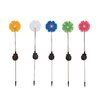 Woodland Imports The Flowery Metal Solar Garden Stake (Set of 5)