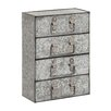 Woodland Imports The Coolly Aged Metal 4 Drawers