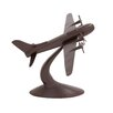 Woodland Imports The Dashing Aluminum Aeroplane Sculpture