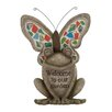 Woodland Imports Modish Styled Polystone Mosaic Frog Figurine
