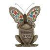 Woodland Imports Modish Styled Polystone Mosaic Frog