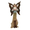 Woodland Imports Attractive Polystone Metal Fairy Figurine