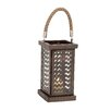 Woodland Imports Fascinating Styled Metal Glass Lantern