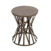 Woodland Imports Rustic Metal Accent Stool