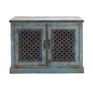 Woodland Imports The Charming Wood Pierced Door Cabinet