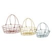 <strong>Fascinating Styled 3 Piece Metal Basket Set</strong> by Woodland Imports