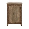 Woodland Imports The Aged Wood Almirah Cabinet