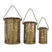 <strong>3 Piece Classy Attractive Metal Lantern Set</strong> by Woodland Imports
