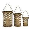 <strong>Antique 3 Piece Metal Lantern Set</strong> by Woodland Imports