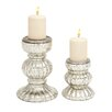 <strong>Woodland Imports</strong> Mesmerizing Styled 2 Piece Glass Candlestick Set